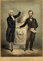 [Currier & Ives portrait of Washington and Lincoln