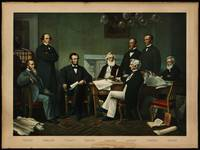 [Print of Lincoln's cabinet based on Carpenter pai