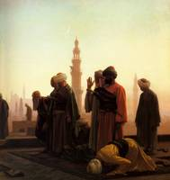 1865  Gerome  La Prière au Caire  Prayer in Cairo