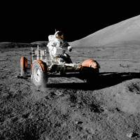 Apollo 17's lunar roving vehicle, 1972 by NASA