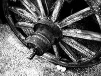 cart wheel 2 in B&W