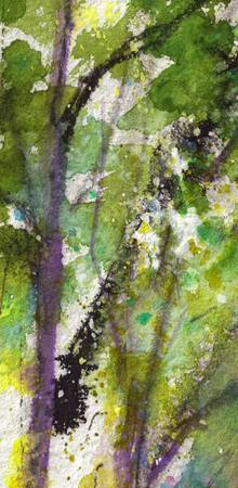 Abstract Intuitive  Green 7 Watercolor
