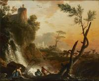 Landscape with ruins  by Gaspard Jean Lacroix 19 t