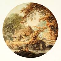 William Payne 'Wooded Landscape with a Cottage bes