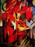 The Fox, 1913 By Franz Marc a