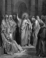 Christ in the Synagogue by Gustave Dore (1832-1883