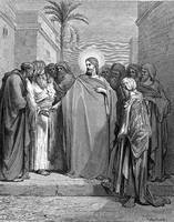 Christ and the Tribute Money by Gustave Dore (1832