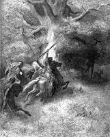 Death of Absalom by Gustave Dore (1832-1883)