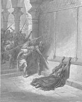 Death of Athaliah by Gustave Dore (1832-1883)