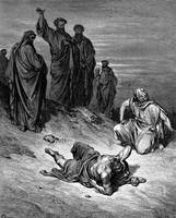 Death of Ananias by Gustave Dore (1832-1883)