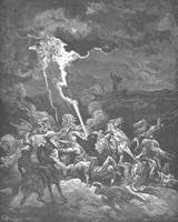 Elijah Destroys the Messengers of Ahaziah by Fire