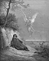 Elijah Nourished by an Angel by Gustave Dore (1832