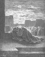 Ezra in Prayer by Gustave Dore (1832-1883)