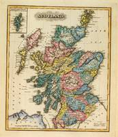 Historic Map Of Scotland By Fielding Lucas - 1817