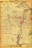 Map of Illinois Central Railroad (1892)