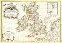 1771 Zannoni Map of the British Isles ( England, S
