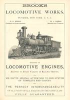 Brooks Locomotive Works Ad Engraving