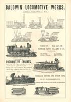 Baldwin Locomotive Works Railroad Advertisment