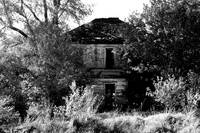 The Old Home Place in black and white