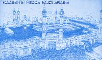 Kaabah in Mecca Saudi Arabia - BluePrint Drawing