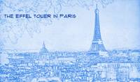 The Eiffel Tower in Paris - BluePrint Drawing