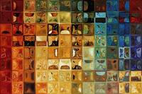 Tile Art #22, 2008. Modern Mosaic Tile Art Paintin
