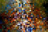Tile Art #1, 2007. Modern Mosaic Tile Art Painting