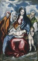 El Greco  - THE HOLY FAMILY WITH SAINT ANNE AND TH
