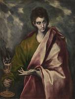 st john the evangelist - El Greco (Domenikos Theot