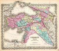 1855 Colton Map of Turkey Iraq and Syria _-_Geogra