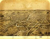 Birdseye view of Ypsilanti, Michigan (1869)