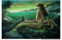 Olivine Mermaid - Carol Phillips Art