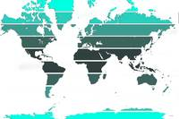 worldmap green stripes