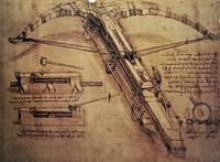 LEONARDO DA VINCI - DESIGN FOR A GIANT CROSSBOW, D