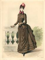 Ladies Paris Fashion Illustration Engraving 6
