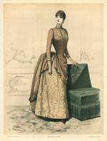 Indoor Paris Ladies Fashion Illustration Engraving