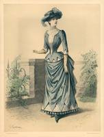 Ladies Paris Fashion Illustration Engraving 2