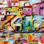 """Italy Procida Island Oil Painting"" by GinetteCallaway"