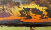 1865 Sky at sunset, Jamaica, West Indies oil on pa