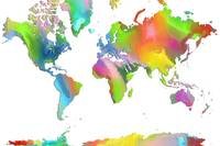 World Map multicolor