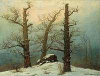 Caspar David Friedrich - Cairn in Snow