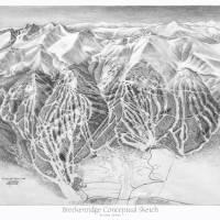 Breckenridge Conceptual Trail Map Sketch Art Prints & Posters by James Niehues
