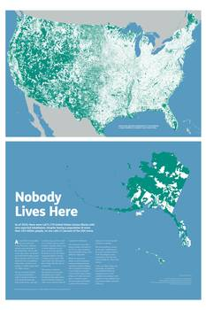 Nobody Lives Here Map Print By Maps By Nik