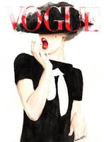 Vogue Magazine Cover. Fashion Illustration.