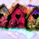 """""""Baby Birdhouses"""" by artbyclaire"""