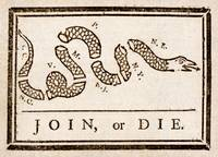 Benjamin Franklin's Join, or Die cartoon