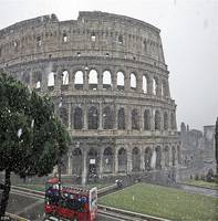 Coliseum In Snow