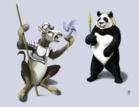 Donkey Xote and Sancho Panda (colour)
