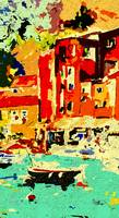 Modern Abstract Portofino Vintage 1