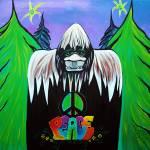"""Bigfoot Peace"" by ArtPrints"
